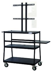 Buhl Flat Panel AV Cart with 2 Shelves (Up to 47