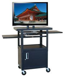 Buhl Wide Body Flat Panel TV Cart with Cabinet