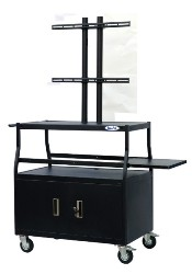 Buhl PLCAB4420E Flat Panel AV Cart with Locking Cabinet