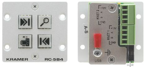 Wall Plate Insert - 4-Button Auxiliary Control Panel