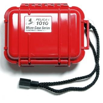 Pelican 1010 Watertight and Crushproof Micro Case- Solid Red