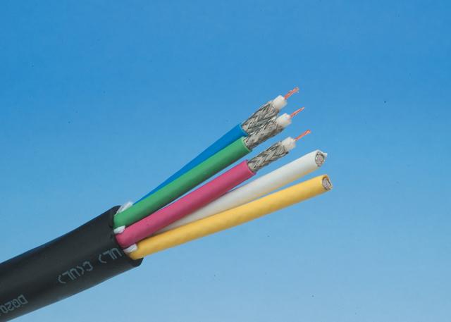 Liberty RGB5-MINI-75OHM-COAX RGB Cable 5XMRG59 STR CMR, Black