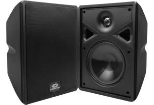 Crestron Saros 4-in 2-Way Surface Mount Speaker, Black, Single