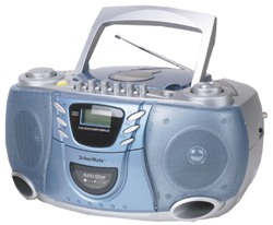 Hamilton MPC-5050 Portable CD/Cassette Player, AM-FM Radio