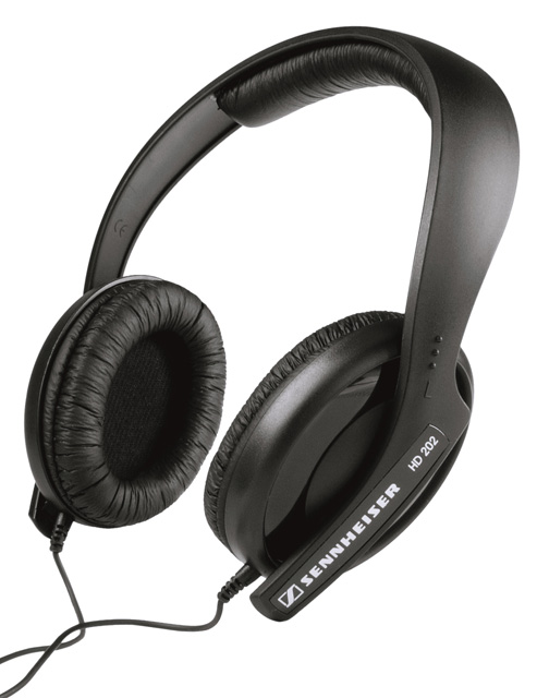 Sennheiser HD202-II Dynamic Hi-Fi Stereo Headphone, Huge Bass Response