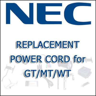 NEC PWRCRD-PJPX Replacement Power Cord for GT/MT/LT/WT Series Projectors