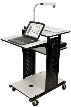 Multimedia Presentation Workstation, 3-outlet Electric Assembly