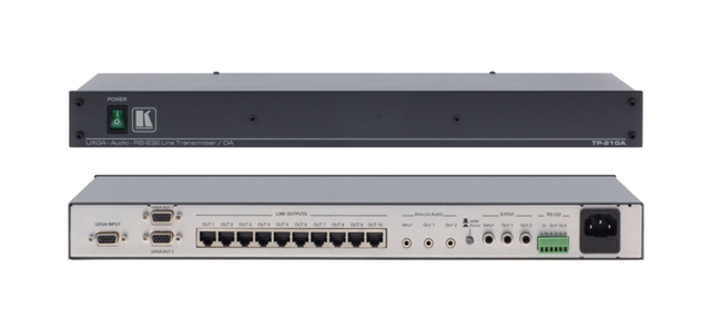 Kramer TP-210A 1:10 Computer Graphics Video, Audio & RS-232 over Twisted Pair & Distribution Amp