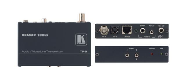 Kramer TP-9 Composite Video, s-Video & Stereo Audio over Twisted Pair Transmitter with IR Repeater