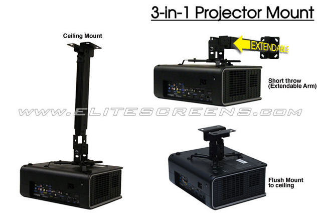 Elite A56-E25B Universal Ceiling Projector Mount
