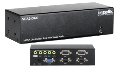 1X4 VGA and Stereo Audio Distribution Amplifier