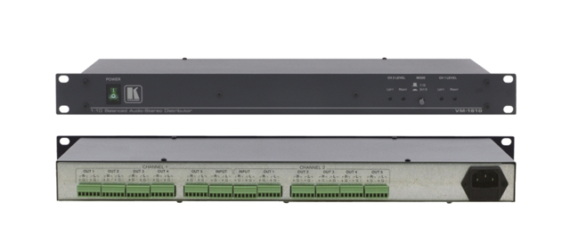 Kramer VM-1610 1:10 Balanced Stereo Audio Distribution Amplifier