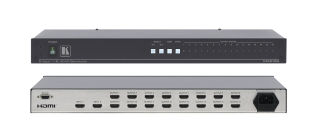 Kramer VM-216HDMI 2x1:16 HDMI Distribution Amplifier