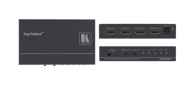 Kramer VM-22HDMI 2 x 1:2 HDMI Distribution Amplifier