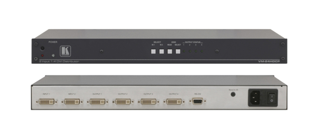 Kramer VM-24HDCP 2x1:4 DVI Distribution Amplifier