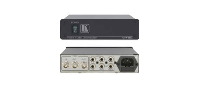 1:2 Composite Video & Stereo Audio Distribution Amplifier