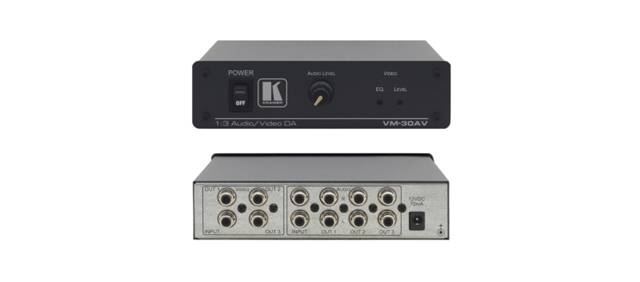 Kramer VM-30AV 1:3 Composite Video & Stereo Audio Distribution Amplifier