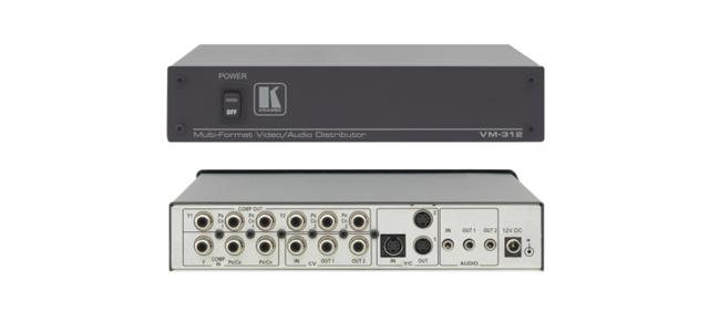 Kramer VM-312 1:2 Multi-Format Video & Stereo Audio Distribution Amplifier