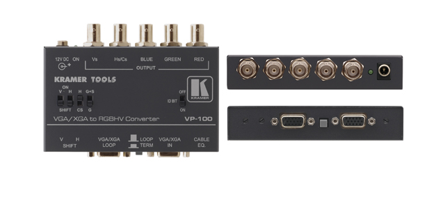 Kramer VP-100 Computer Graphics Video to RGB/HV/S Format Converter