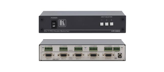 Kramer VP-32K 3x1:2 Computer Graphics Video & Stereo Audio Switcher