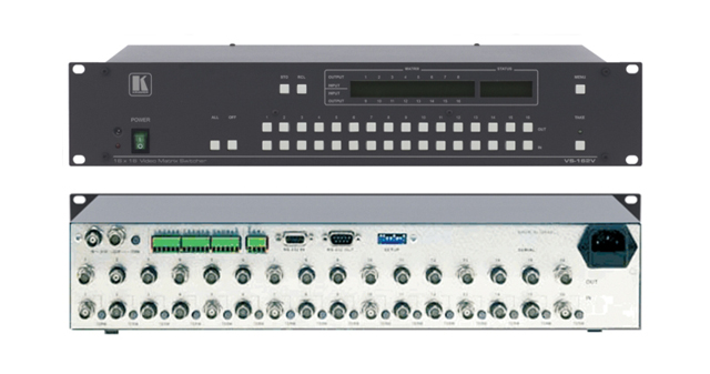 16x16 Composite Video Matrix Switcher (90MHz)