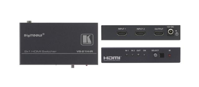 Kramer VS-21H-IR VS-21HDMI-IR 2x1 HDMI Switcher, IR
