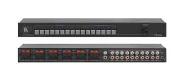 1x10 Stereo Audio Line Switcher or 1x6 33 Watt RMS Stereo Amplifier & Switcher