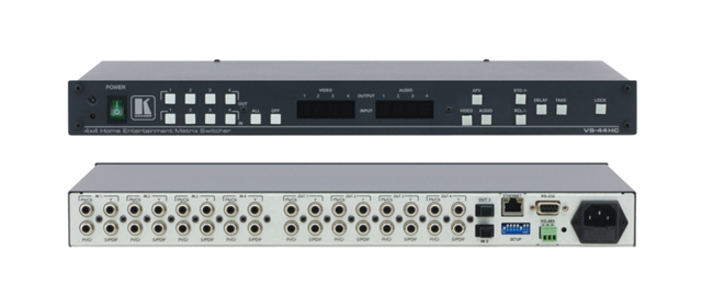 4x4 Component Video & Digital Audio Matrix Switcher