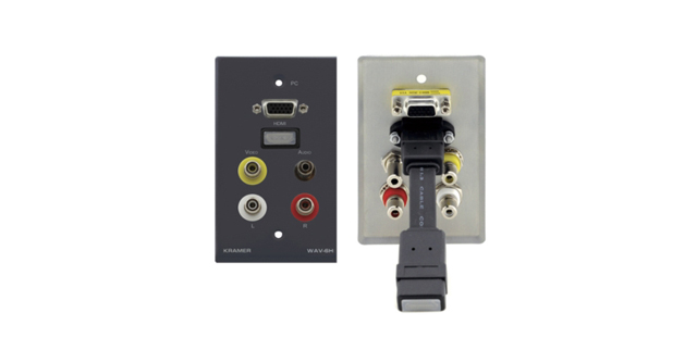 Passive Wall Plate - HDMI, 15-pin HD, 3.5mm STEREO AUDIO & 3 RCA