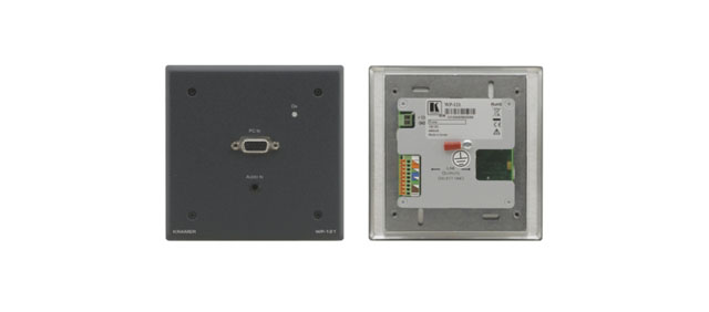 Kramer WP-121 Active Wall Plate - Computer Graphics Video & Stereo Audio over Twisted Pair w/ EDID