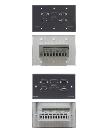 2x1 Computer Graphics Video Automatic Switcher Active Wall Plate