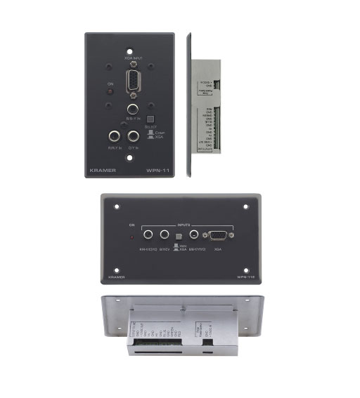 Kramer WPN-11 Active Wall Plate - Computer Graphics Video & Component Video Transmitter