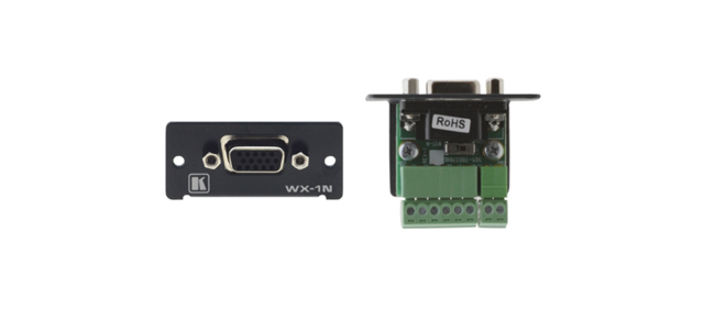 Wall Plate Insert - 15-pin HD (F) to Terminal Block