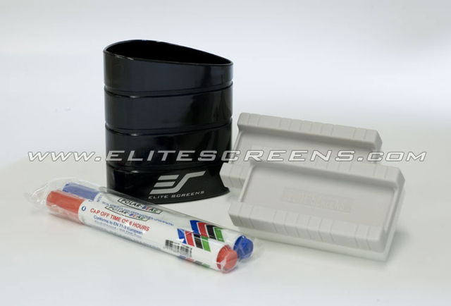 Elite ZER2 Set of pens, high-density erasers, & a self-stick cradle