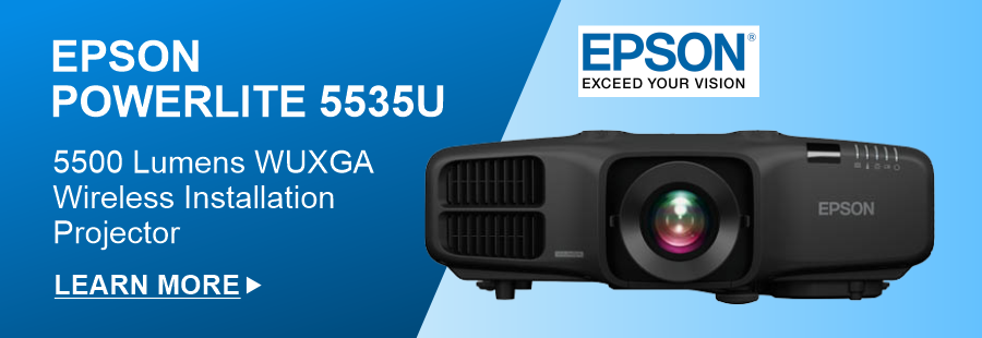 EPSON PowerLite 5535U 5500lm WUXGA Wireless Installation Projector