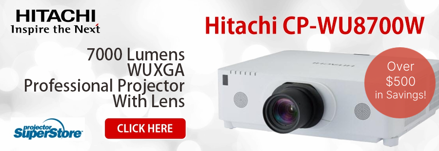 Hitachi CP-WU8700W projector and ML713 lens