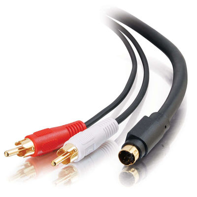 C2G 2325 50ft Value Series S-Video + RCA Stereo Audio Cable