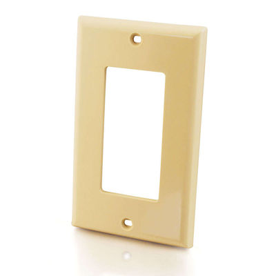 C2G 3724 Decorative Single Gang Wall Plate - Ivory
