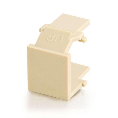 C2G 3810 Snap-In Blank Keystone Insert Module - Ivory
