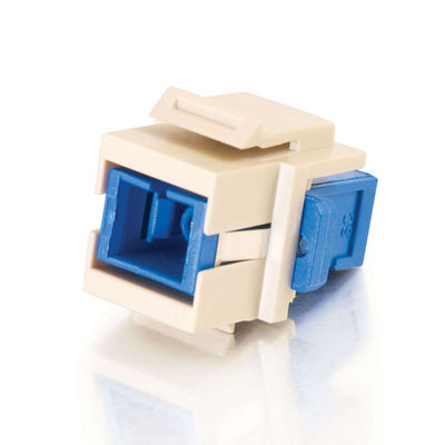 C2G 3816 Snap-In SC Fiber F/F Keystone Insert Module - Ivory