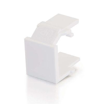 C2G 3820 Snap-In Blank Keystone Insert Module - White