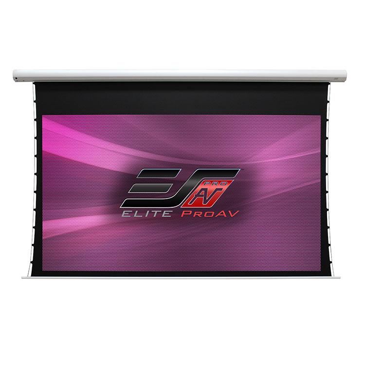 Elite SKT120XVW-E9 120in 4:3 Saker Tab-Tension Electric Screen, MaxWhite