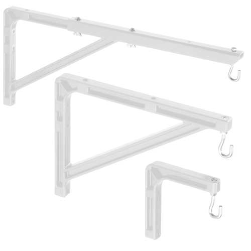 Da-Lite 40933 No. 23 Wall Brackets 10in - 24in Extension, 1 Pair (White)