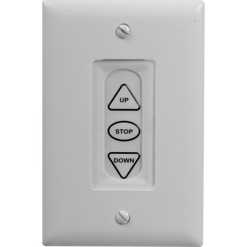 Da-Lite 40975 White Three Button Low Voltage Control Switch (Standard)