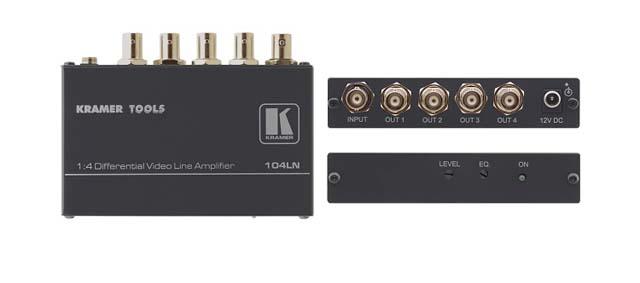 Kramer 104LN 1:4 Composite Video Differential Line Amplifier