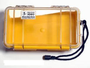Pelican 1060 Watertight and Crushproof Micro Case - Yellow/Clear