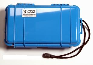 Pelican 1060 Watertight and Crushproof Micro Case - Blue