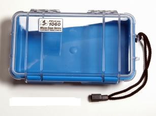 Pelican 1060 Watertight and Crushproof Micro Case - Blue/Clear