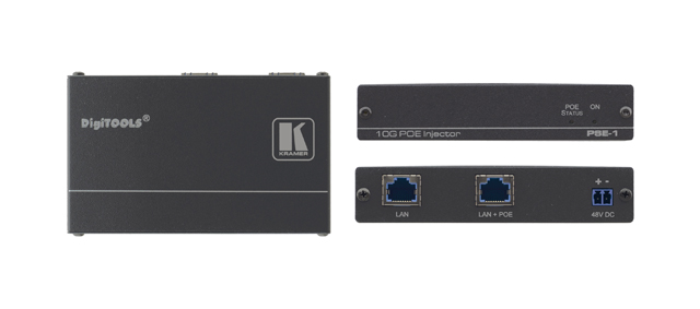 Kramer PSE-1 10Gb UHD Power Over Ethernet Injector for 1 HDBaseT Device