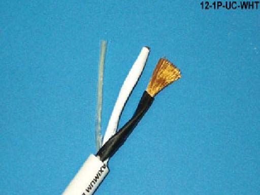 Liberty 12-1P-UC-WHT Ultracap THX 12/2 CL3R Speaker Cable, White